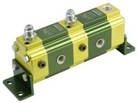 Flow divider 2x0,98cm3+valve   with valves(35-175 bar)