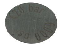 Safety disc, max. 400 ltrs. Ø16