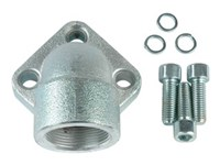 """Vinkelflange 1.1/2"""" BSP - (3) Boltcirkel 72mm"""