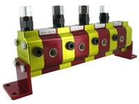 Flow divider 4x0,57cm3+valve   with valves(70-350 bar)