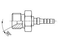 Presskoppling Rak Utv-G1/8'' Ø2mm