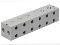 Base plate for 6 x cetop3      For A04D2HZN valve + GS04 val