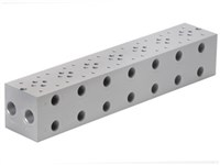 Base plate for 7 x cetop3      For A04D2HZN valve + GS04 val