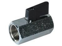 Ball valve fem./fem. PN10 1/4  Brass housing PTFE seal
