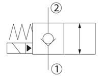 Riktningsventil 2/2 NC HSVP10-NCR-00-00-XC-P-00