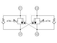 Lasth.ventil dubbel 4.5:1 DCB10-AV-3-B-1-E-100-B-SES4B