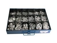 Sortimentlåda Aluminiumbricka 6-30mm, 1600st, 18 fack