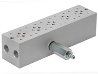 Bundplade for 5 x Cetop3 med A04D2HZN S-ventil