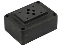 Cetop3 mounting plate 1/2      P-T-A-B at bottom