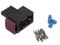 Amp DIN-stik sort(PVEK) For overvågning