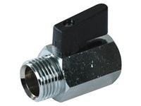 Ball valve fem./male  1/4      Brass housing PTFE seal