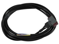 Amp DIN-stik grå(PVEK) med 4 mtr. kabel