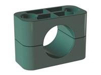 Svær rørholder - Polypropylene - Glat - Grøn