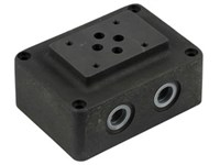 Cetop3 mounting plate 3/8      P-T at bottom, A-B same side