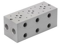 Bundplade for 3 x Cetop3 for A04D2HZN S-ventil
