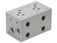 Blok for S-ventil (2xCetop5) m.boring for S.ventil CAV04-2