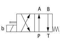 Riktningsventil Vickers NG6, 4/2, P-A, B-T, 24VDC