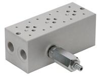 Bundplade for 3 x Cetop3 med A04D2HZN S-ventil