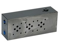 Sub plate steel for 3 x Cetop3  A+B 3/8 , P+T 1/2