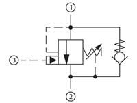 Lasthålln.ventil 60l/m 55-80bar 4.5:1 CB10-HV-1-B-1-F-5
