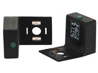 Led adapter m/VDR+LED 24V.Grøn