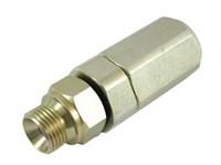 """Svirvel lige   1"""" BSP  250 bar for hydraulik, med kuglelejer"""