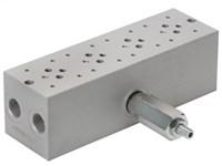 Bundplade for 4 x Cetop3 med A04D2HZN S-ventil