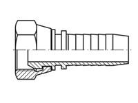 Presskoppling Rak, Inv-G1/8'', Ø1/8'', Pressad mutter