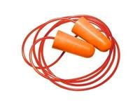 Hörselplugg slät med band, Orange EN352-2