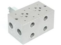 Bundplade for 2 x Cetop3 med A04D2HZN S-ventil