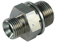 Nippel 3/8 BSP x M27x2,0 flad