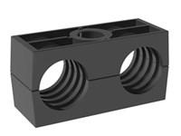 Rörklammerpar, standard serie, dubbel, Polyamid, svart, profilerad - DSLK-PA - DIN3015-3