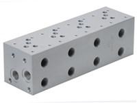 Blok for S-ventil (4xCetop5) m.boring for S.ventil CAV04-2