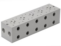 Bundplade for 5 x Cetop3     ¤ for A04D2HZN S-ventil