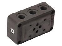 "Bundplade stål for 1 x Cetop3 P-T-A-B i side 3/8"" BSP"